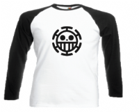 TRAFALGAR TRIBUTE BASEBALL TOP - INSPIRED BY TRAFALGAR LAW HEART PIRATES